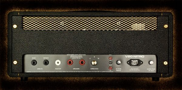 Granger V20 Nitro amplifier rear panel