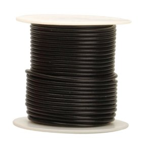 18-ga Stranded BLACK Irradiated PVC Wire, per foot