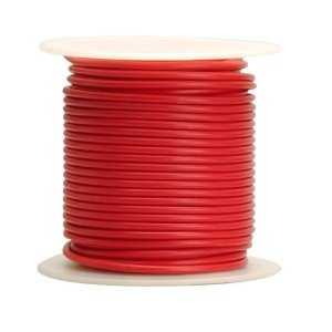 18-ga Stranded RED Irradiated PVC Wire, per foot