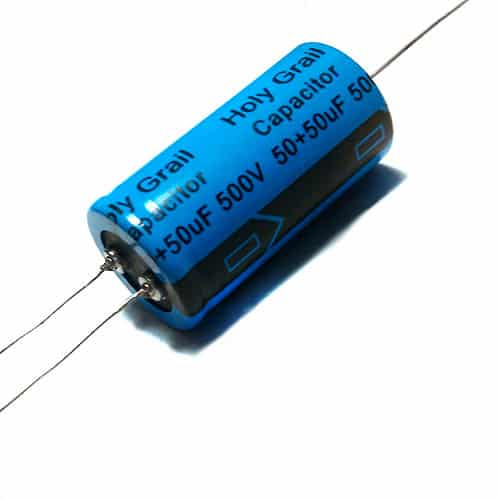Capacitor - Holy Grail, Electrolytic, 50/50 uF @ 500 VDC