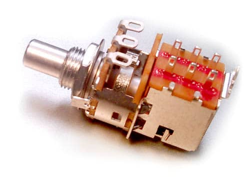 Alpha Potentiometers - Audio Taper, 7mm Bushing, 1MA DPDT