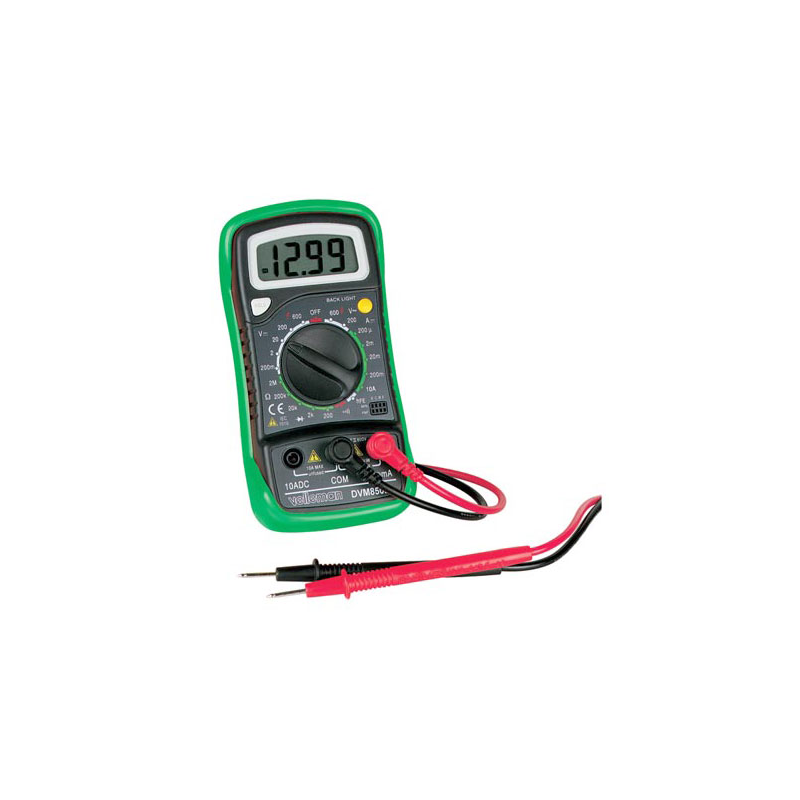 Digital Multimeter, 3 1/2 Digit LCD, w/ Backlight