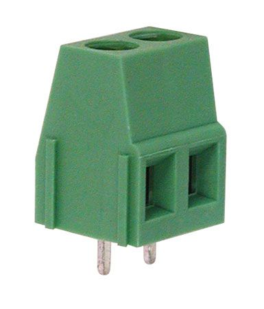 2-Postion PCB Terminal Block, Green
