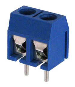 2-Postion PCB Terminal Block, Blue