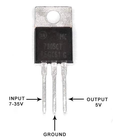 7805 Linear Voltage Regulator 5V 1A Positive